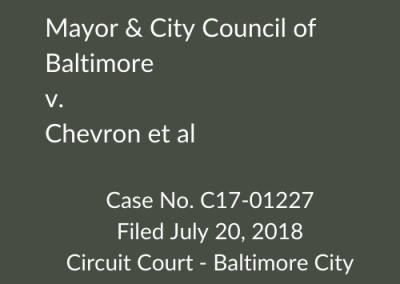 Mayor & City Council of Baltimore v. BP et al
