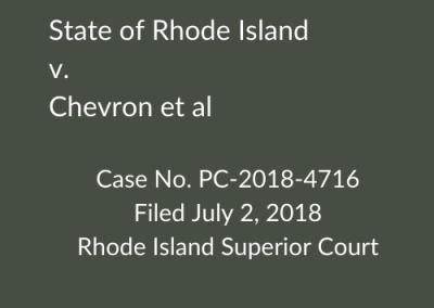 Rhode Island v. Chevron Corp. Corp.