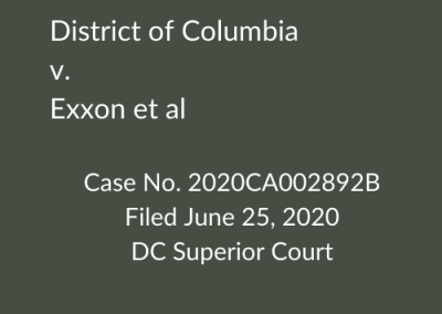 District of Columbia v. Exxon et al