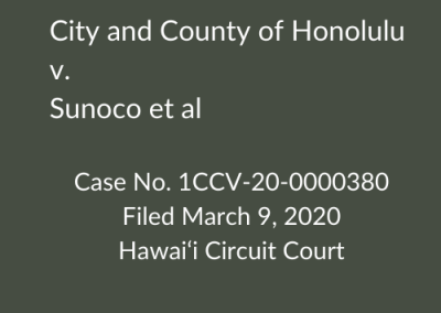 City and County of Honolulu v. Sunoco et al