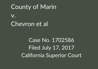 County of Marin v. Chevron et al